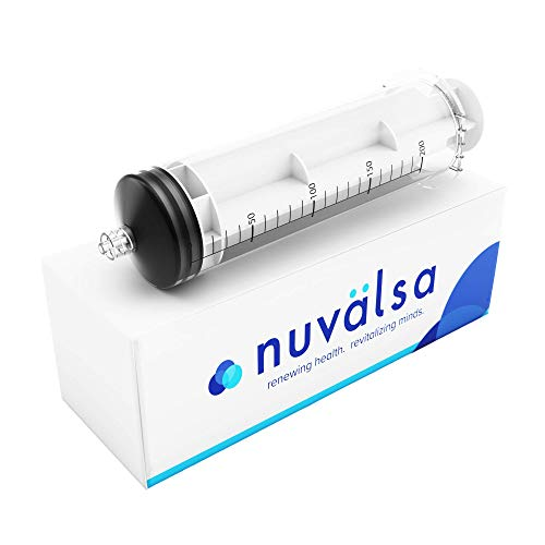 Nuvälsa 200ml Ozone Syringe - Ozone Resistant Materials, Male Luer Lock, High Quality Silicone Plunger for Easy Use