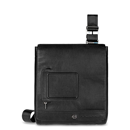 Piquadro Vibe Borsa messenger, 25.5x30.5x4 cm, Testa di Moro (Marrone) nero
