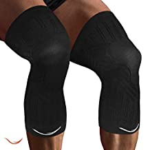 20 - 30 mmhg Graduated Compression Knee Sleeves (1 Pair) Protects Patella Improves Circulation Fast Recovery Immobilized, Strapped, & Supported knees in Running, Yoga, Pilate Basketball Weight lift sports