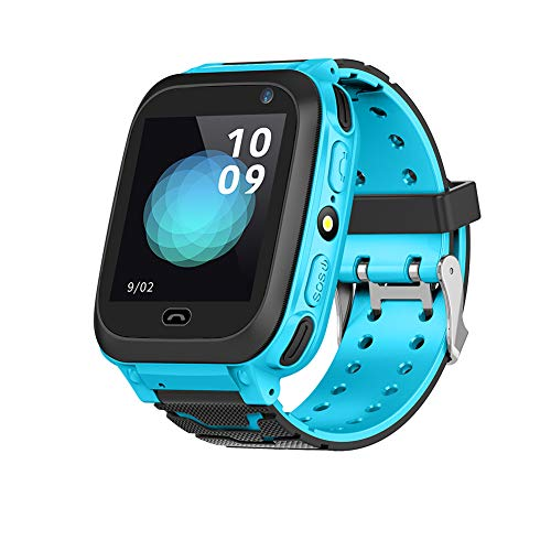 Bewinner Bluetooth Smart Watch for Children Kids GPS Locator Watch Kids SOS Watch - by Plugging in SIM Card, You Can Talk with Kids - SOS Emergency Alarm,Adopts Advanced GPS Locator Technology(Blue)