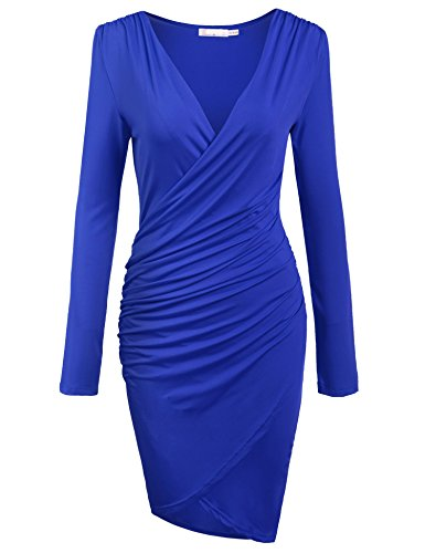 Ruched Surplice Dress - 5