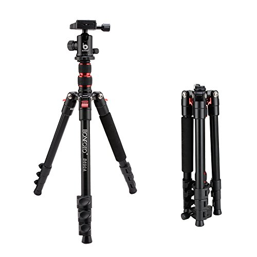 BONFOTO B690A Portable Travel Tripod lightweight with 1/4