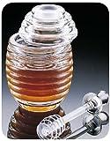 New, Beehive Shape, Honey Jar, Honey Pot, Honey Dispenser, w/ Honey Dipper Serving Wand, Clear and Durable Arylic Plastic