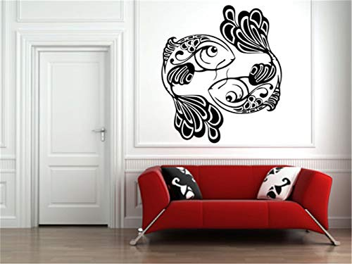 Hiead Wall Sticker Quote Wall Decal Funny Wallpaper Removable Vinyl Undersea Animal Wall Decal Koi Fish Vinyl Wall Decal Sticker for Nursery Kids Room Bedroom