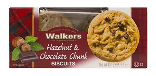 - Walkers Shortbread Hazelnut and Chocolate Chunk Biscuits (Pack of 6)