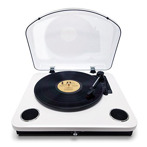 Photive Spin Vinyl Record Player with Built-in Speakers | 3-Speed Stereo USB Turntable Supports Vinyl to MP3 Recording | Bluetooth and RCA Connectivity (Piano White) by Photive (Image #9)