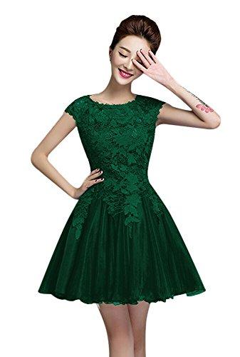 Dress Sunnygirl Sleeces Lace Green Short Womens Homecoming Dress