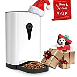 SUKI&SAMI Pets Automatic Pet Feeder Food Dispenser Dogs, Cats & Small Animals – Features Distribution Alarms, Portion Control & Voice Recording Timer Programmable Up to 4 Meals a Day