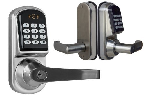 Kendal Electronic Keyless Deadbolt Door Lock Unlock with code, mifare cards, and mechanical key S200MF-1 Shining Image