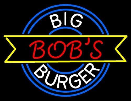 Scecent Neon Sign Custom Big Bobs Burger Flex LED Neon Light 17 Inches