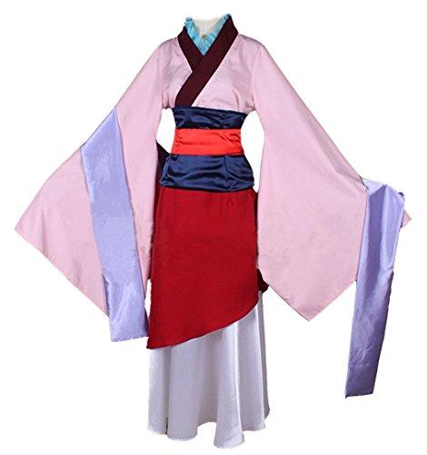 Beauty Costume Chinese Heroine Hua Mulan Dress Halloween Outfit (Woman-XS)