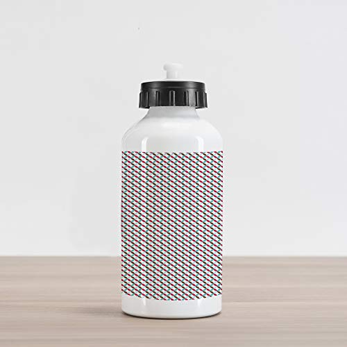 - Ambesonne Retro Aluminum Water Bottle, Contigous and Colorful Flower Petals On The Bias Pattern with White Backdrop Print, Aluminum Insulated Spill-Proof Travel Sports Water Bottle, Multicolor