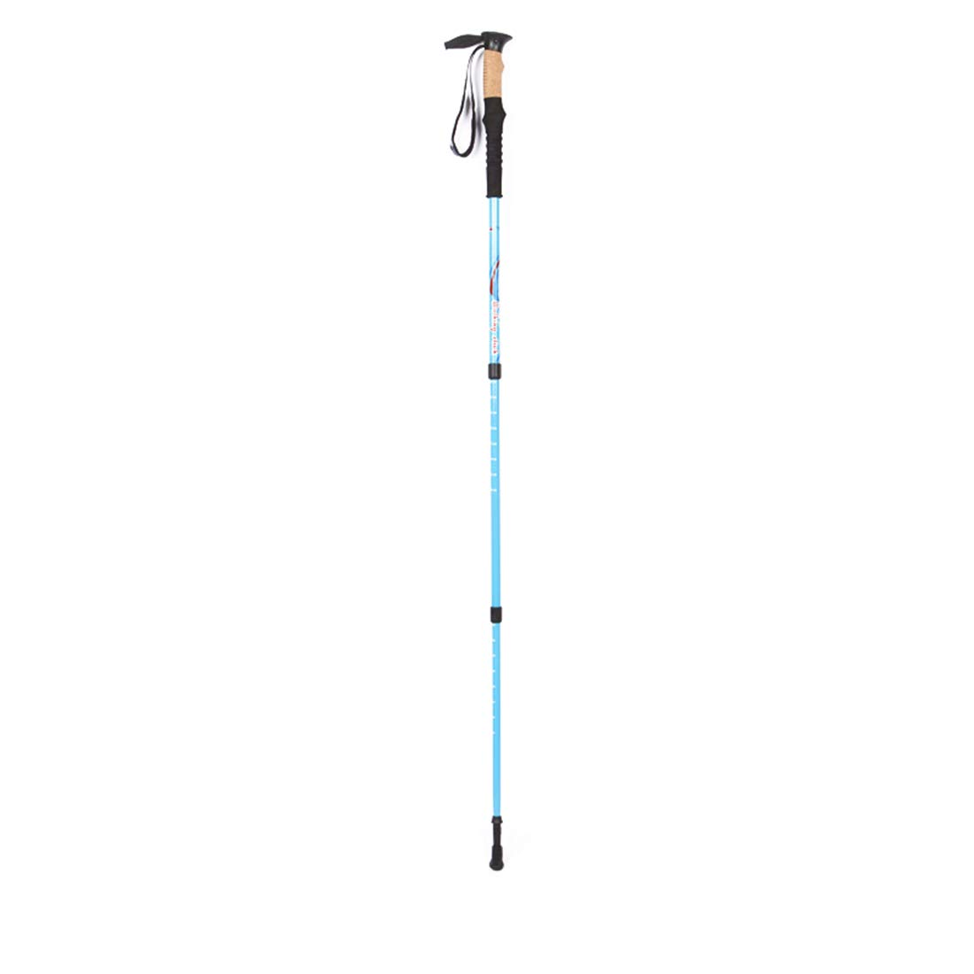 Igspfbjn Trekking Pole Cane Offroad Folding Outdoor Ultraleichte Aluminiumlegierung Straight Shank Spazierstock Tragbare Wanderung Dreiteilige Teleskopverstellbare Wanderstange Geeignet für Outdoor-Sp