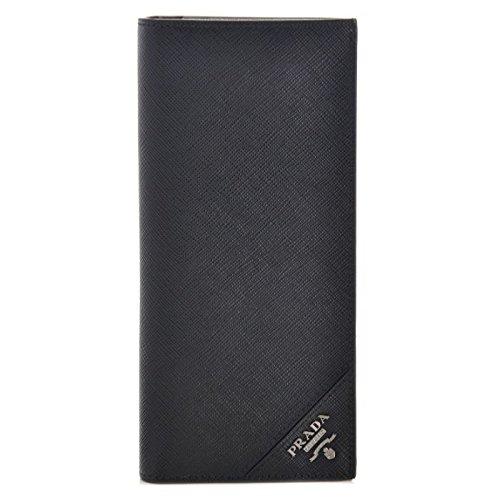 PRADA(プラダ) 型押しカーフスキン メンズ 二つ折り長財布 2MV836 QME 002 [並行輸入品] B014KLINQC
