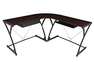 Regency Soho Computer Corner Desk- Mocha Walnut