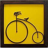 Quadro Decorativo, Modelo Bicycle Me Criative QFC Fundo Amarelo Pacote de 1
