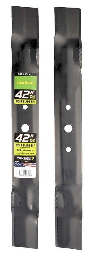 Maxpower 561806 2-Blade Set para aplanadora de Corte John Deere ...