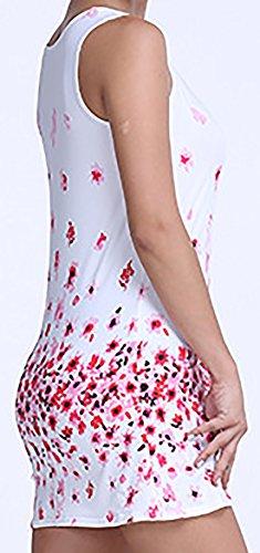 erdbeerloft - Damen Floral Gemustertes Longtop, XS-XL, Mehrfarbig