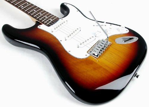 RST 3TS SX Tamaño Completo Guitarra Eléctrica W/ga1065 Paquete Incluye Guitarra, amplificador, correa y DVD con instrucciones: Amazon.es: Instrumentos ...