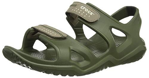 Crocs Mens Swiftwater Riversandal M Beach Rubber Lightweight Sandals - Army Green/Khaki - M7