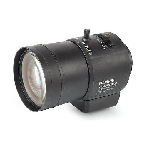 Cs Mount Varifocal Auto Iris - FUJINON Varifocal 5 to 50mm f/1.3 Lens with DC Auto Iris, for 1/3 and 1/4-Inch CCD Industrial Cameras with CS-Mount / YV10x5B-SA2L /
