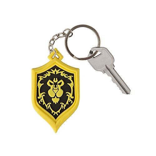 JINX-World-of-Warcraft-Alliance-Pride-Rubber-Key-Chain-BlueGold-One-Size