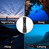 VOLADOR Diving Flashlight, 1000 Lumen Waterproof