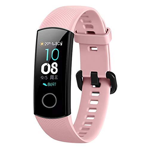 Price comparison product image LEERYAAY Sports Silicone Bracelet Strap Band for Huawei Honor 4 Smart Watch Pink