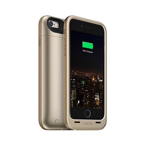 Mophie Juice Pack Plus - Protective Mobile Battery Pack Case for iPhone 6/6s - Gold (Renewed)