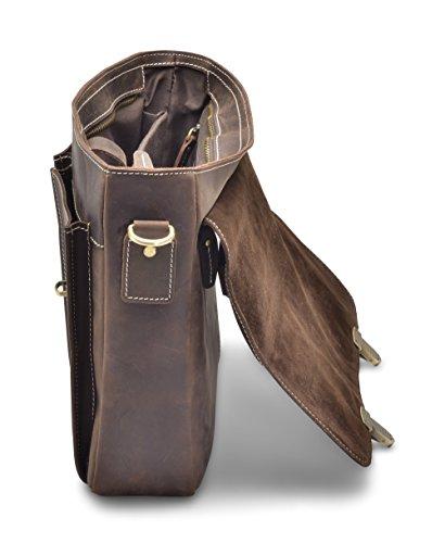 """Hølssen Briefcase Messenger 13"""" Laptop Genuine Leather Bag by Hølssen (Image #3)"""