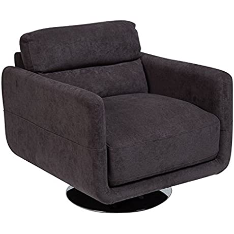 Porter Designs AC017 Chelsea Contemporary Swivel Accent Chair Single Seat Gray