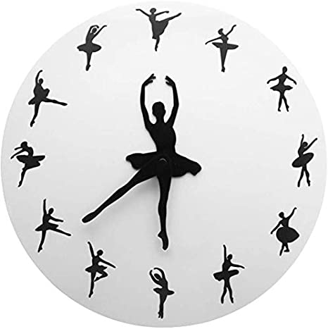 Ballerina Dancing Wall Clock