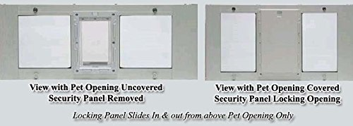 45'' to 50'' Window Sash Pet Door (Extra Large 10 1/2''x15'') by Ideal Pet Products