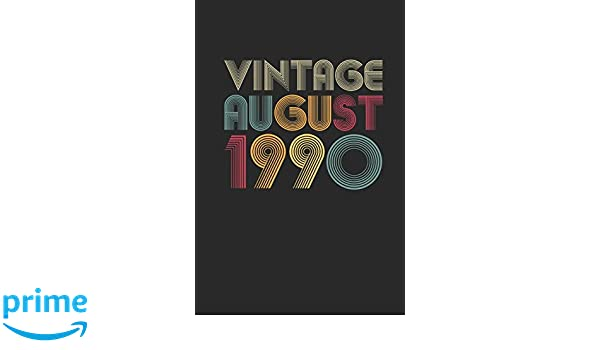Amazon.com: Vintage August 1990: Dotted Bullet Grid Notebook ...