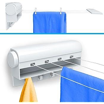 Gideon Indoor 4 Line Retractable Clothesline U2013 Clothes Dryer With 4 Bonus  Hanging Hooks