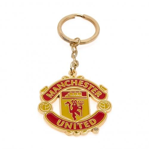 Club Licensed Man Utd Crest Keyring   One Size