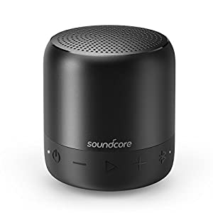 Anker Soundcore Mini 2 Pocket Bluetooth IPX7 Waterproof Outdoor Speaker, Powerful Sound with Enhanced Bass, 15-Hour Long-Lasting Playtime, Wireless Stereo Pairing, Ultra-Portable Design, On-The-Go-Music