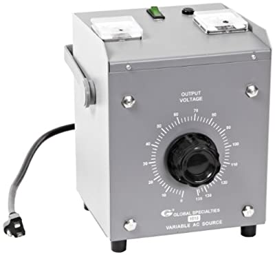 Global Specialties 1515 Dual-Output Variable AC Power Source, 130V AC, 15 Amp