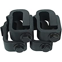 AA-Racks P-AC-03 Clamp for Truck Cap, Camper Shell, Topper for a Short Bed Pickup Truck (Set of 4),Black