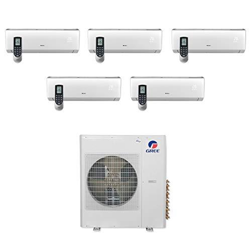 Gree MULTI36CLIV500-36,000 BTU Multi21+ Penta-Zone Wall Mount Mini Split Air Conditioner Heat Pump 208-230V (9-9-9-9-9)