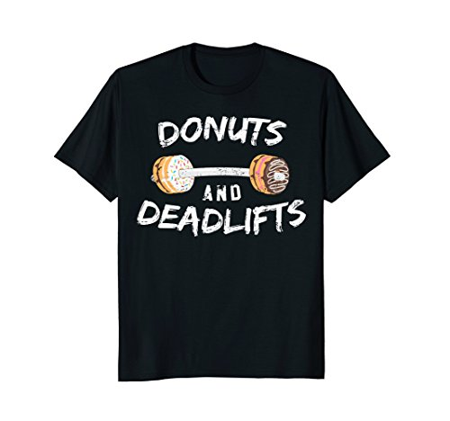 Donuts and Deadlifts T-Shirt, Funny Doughnut Workout Tee