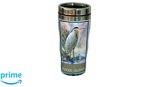 Tree-Free Greetings sg23016 Scenic West Virginia Wood Duck by David Bartholet Stainless Steel Sip N Go Travel Tumbler 16-Ounce Multicolored