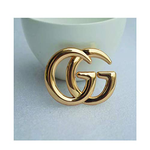Women's Fashion Brooches & Pin Letter Designed Metal and Crystal Paved with Multi-Options (G-Gold)