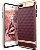Caseology Parallax Series iPhone 8 Plus / 7 Plus Cover Case with Design Slim Protective for Apple iPhone 8 Plus (2017) / iPhone 7 Plus (2016) - Burgundy