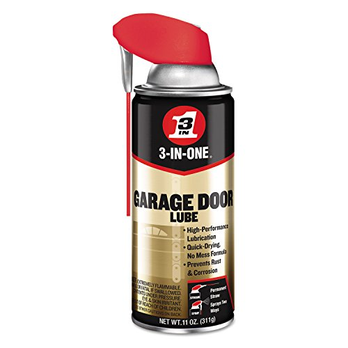 3-IN-ONE Professional Garage Door Lubricant with SMART STRAW SPRAYS 2 WAYS 11 OZ - Garage Door Grease