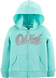 OshKosh Girls Full Zip Logo Hoodie