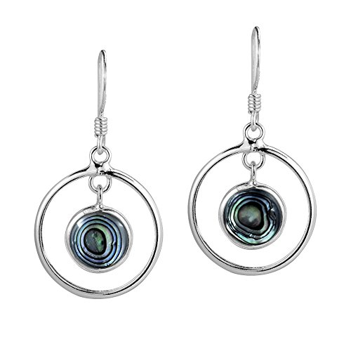 Sterling Silver Abalone Shell Drop - 5