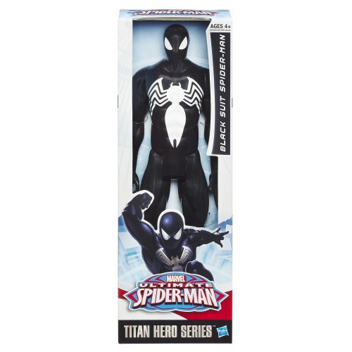 Marvel Ultimate Spider-Man Titan Hero Series Black Suit Spider-Man Figure – 12 Inch