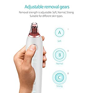 Blackhead Remover, Xpreen Pore CleanerRechargeable Microcrystalline IPL Comedo Remover with 4 Multi-Functional Probe, Blackhead Extractor Especially for Acne,Fett & Facial Pore Clean (White)