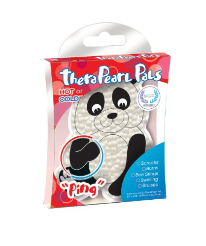 TheraPearl Children's Pals, Ping The Panda, Non Toxic Reusable Animal Shaped Hot Cold Therapy Pack, Flexible Compress for Injuries, Swelling, Pain Relief, Bee Stings ()